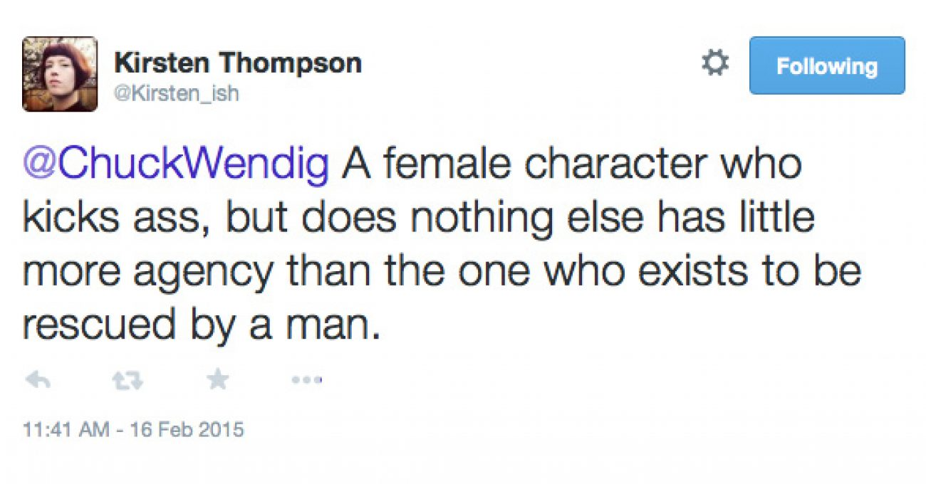 """How """"Strong Female Characters"""" Still End Up Weak And"""