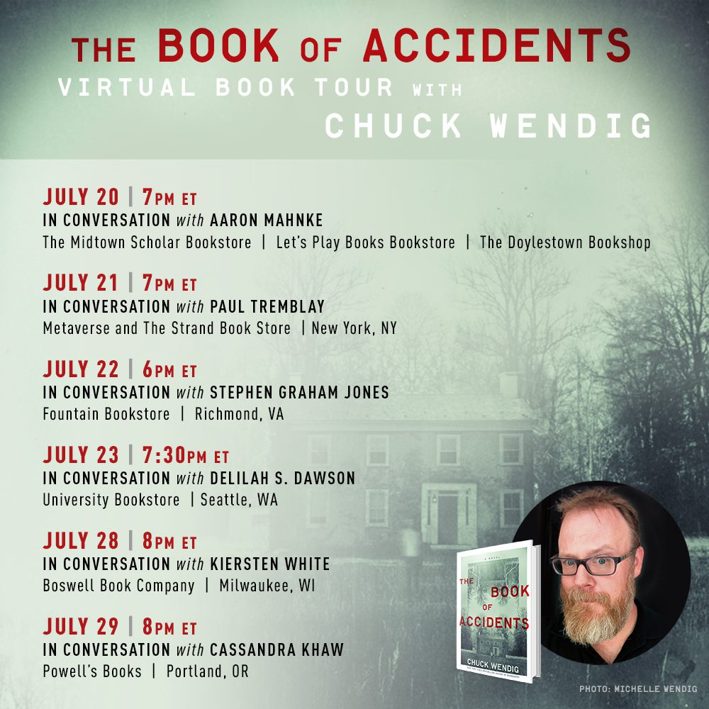 The Book of Accidents: Virtual Tour Announcement!